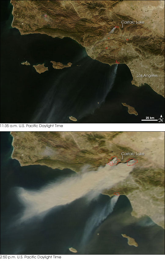 You are browsing images from the article: Map of California Fires 10/23/2007